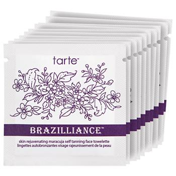 tarte Brazilliance skin rejuvenating maracuja self tanning face towelettes, 10 ea