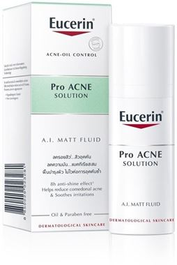 Kem giúp kiểm soát dầu giảm mụn Eucerin ProAcne Solution Mattifying Fluid 50ml